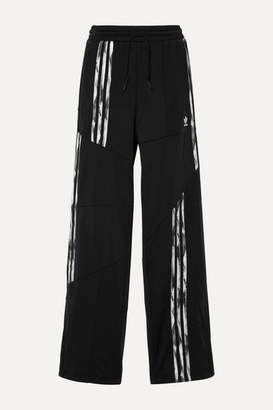 adidas Daniëlle Cathari Firebird Paneled Striped Tech-jersey Track Pants - Black