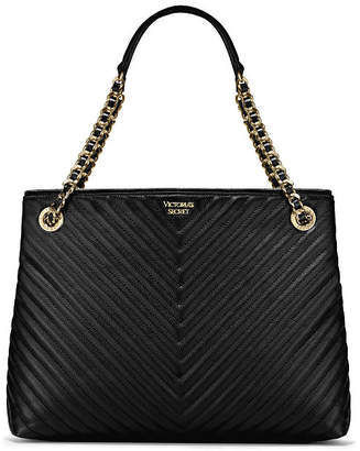 Victoria's Secret Victorias Secret Pebbled V-Quilt Shoulder Tote
