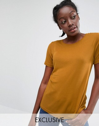 Monki Ribbed T-Shirt $23 thestylecure.com