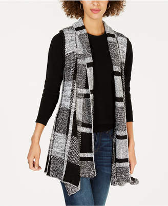 Style&Co. Style & Co Plaid Jacquard Vest, Created for Macy's