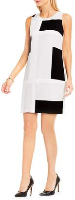 Vince Camuto Women's Abstract Grid Printed Shift Dress