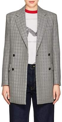 Calvin Klein Women's Glen Plaid Virgin Wool Double-Breasted Blazer