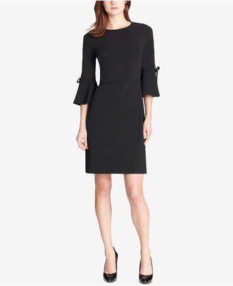 Tommy Hilfiger Bell-Sleeve Scuba Crepe Dress