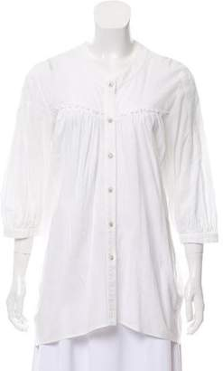 Thakoon Long Sleeve Button Down Top