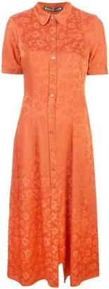 ALEXACHUNG Alexa Chung floral embroidered shirt dress