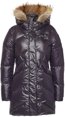 Blauer Impermeable Down Coat with Fur-Trimmed Hood