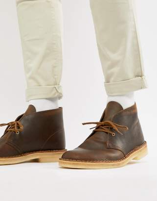 Clarks desert boots in beeswax leather