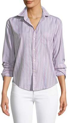 Frank And Eileen Barry Striped Button-Front Cotton Shirt