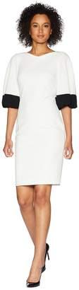 Calvin Klein Color Block Bubble Sleeve Dress CD8C26ML Women's Dress