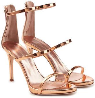 Giuseppe Zanotti Alien Metallic Leather Stiletto Sandals
