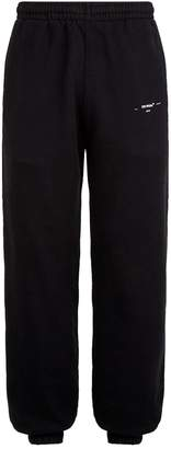 Off-White Off White Cotton Slim-Fit Sweatpants