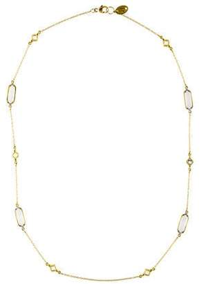 Jude Frances 18K Moonstone & Diamond Lisse Station Necklace