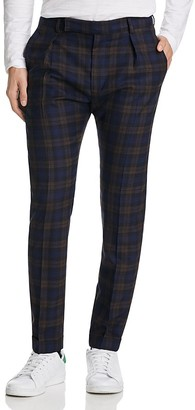 Paul Smith Plaid Slim Fit Trousers $450 thestylecure.com