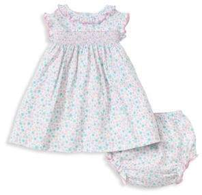 Kissy Kissy Baby's Floral Dress& Diaper Cover Set