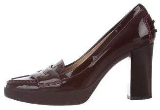 Tod's Leather Semi Pointed-Toe Pumps