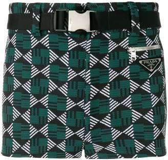 Prada patterned swim shorts