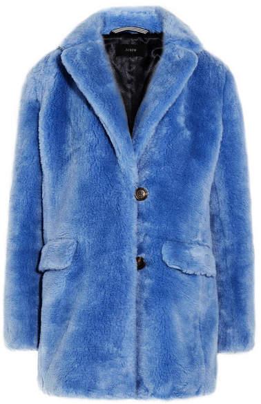 J.Crew - Yuna Faux Fur Coat - Blue