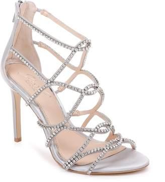 Badgley Mischka Delancey Crystal Embellished Cage Sandal