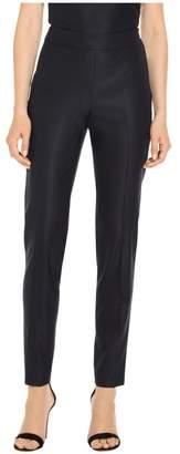 St. John Stretch Birdseye Suiting Skinny Ankle Pants