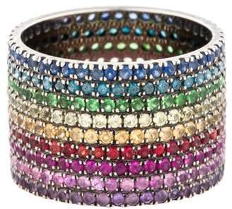 As 29 AS29 Multistone Lana Rainbow Pinky Ring