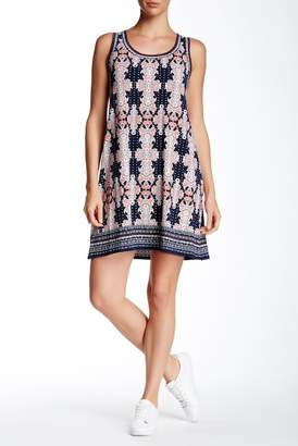 Max Studio Printed Sleeveless Shift Dress