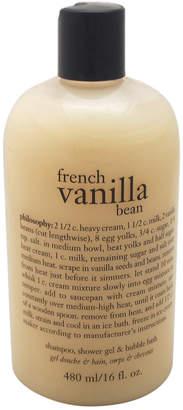 philosophy Unisex 16Oz French Vanilla Bean Ice Cream Shampoo Shower Gel & Bubble Bath