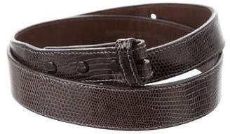 Kieselstein-Cord Lizard Belt Strap