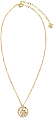 Versace Gold Small Pendant Necklace $325 thestylecure.com
