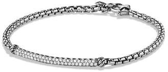 David Yurman Metro Pave Diamond Bar Bracelet
