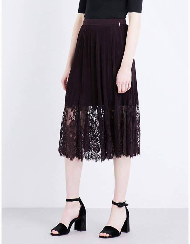 Lillian lace chiffon skirt