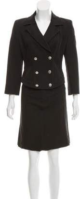 Max Mara Double-Breasted Skirt Suit
