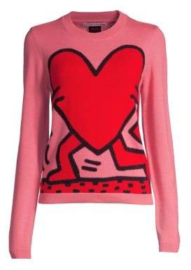 Alice + Olivia Keith Haring X Connie Intarsia Knit