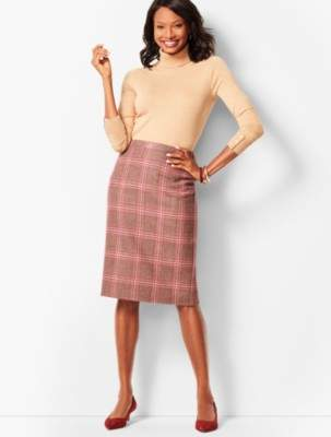 Talbots Glen Plaid Pencil Skirt