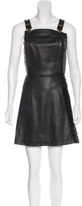 Ungaro Leather Mini Dress