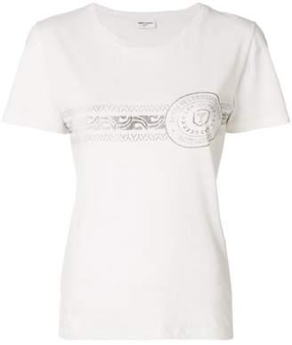 Saint Laurent printed short sleeved T-shirt