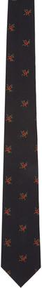 Givenchy Black Floral Tie $220 thestylecure.com