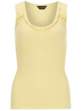 Dorothy Perkins Lemon lace detail vest