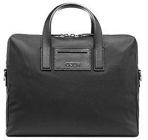 HUGO BOSS Single document case with leather trims