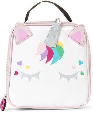 Betsey Johnson Luv Betsey By White Unicorn Insulated Lunch Tote