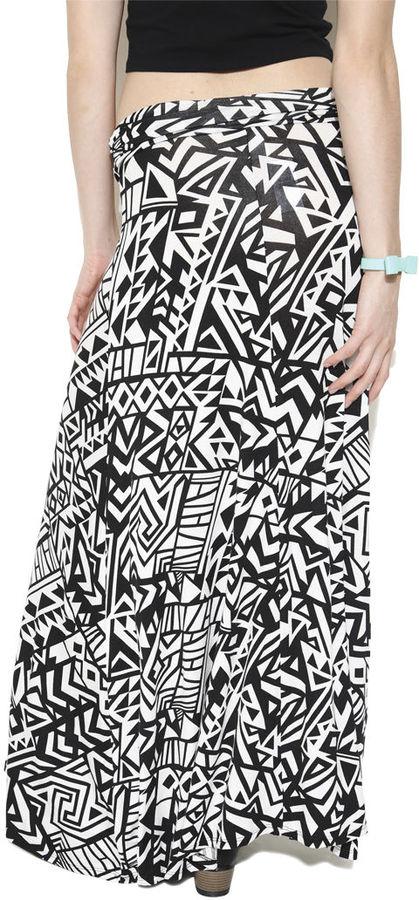 Wet Seal Geo Tribal Maxi Skirt