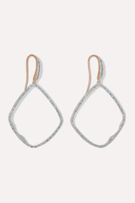 Monica Vinader Riva Large Hoop Rose Gold Vermeil Diamond Earrings
