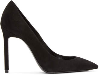 Saint Laurent Black Suede Anja Pumps