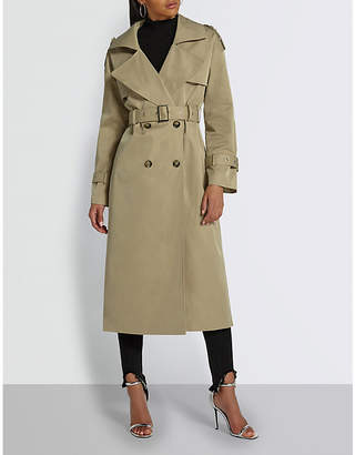 Missguided Double-breasted woven trench coat