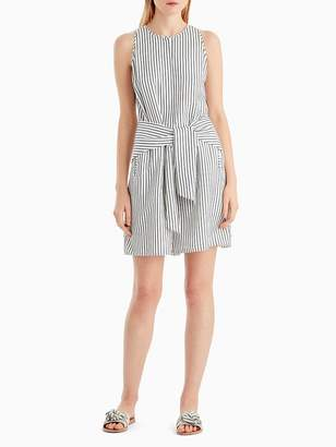 Striped Tank Romper with Tie Detail