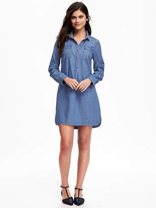 Chambray Shirt Dress for Women $32.94 thestylecure.com