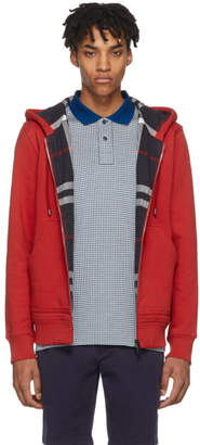 Burberry Red Fordson Core Zip Hoodie