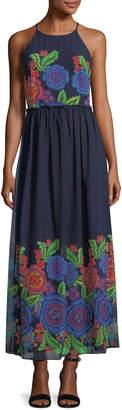 Taylor Floral-Print Chiffon Maxi Dress