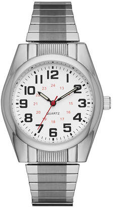 FASHION WATCHES Mens Silver Tone Expansion Watch-Fmdjo119