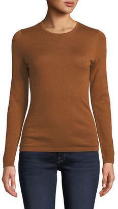 Neiman Marcus Modern Superfine Cashmere Crewneck Sweater