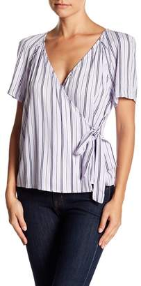 Lush Power Shoulder Woven Shirt